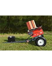 This rolling electric clay target machine holds 135 targets and throws up to 85 yards.