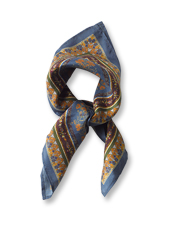 Knot a hand-rolled Printed Silk Scarf around your neck for a polished finishing touch.