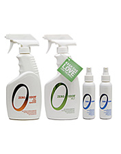 This convenient kit with an odor eliminator and a stain remover makes fast work of pet messes.