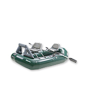 Explore and fish more water with the Outcast Striker inflatable fishing raft package.