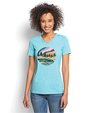 This attractive and comfortable printed graphic tee helps support a worthy cause.