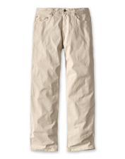 Our 5-Pocket Stretch Twill Pants are equally rugged and comfortable, a perfect combination.