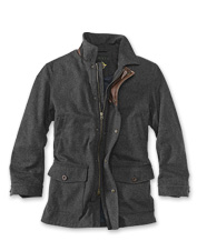 This Wool Driving Coat offers plenty of warmth in a substantial length for wintertime travels.