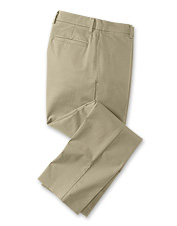 Enjoy wrinkle-free convenience and the comfort of a little stretch in these versatile chinos.