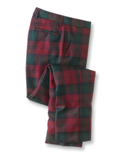 Step into the holiday spirit wearing these fine wool pants in a dress tartan.