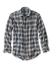 We've washed this long-sleeved flannel shirt to give it the appeal of a vintage favorite.