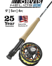 The Helios 3D 5-Weight, 9-Foot Fly Rod is renowned for its power and accuracy at a distance.