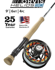 The Helios 3D 6-Weight, 9-Foot Fly Rod puts your fly right where you want it, time and again.