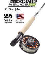 The Helios 3F 5-Weight, 9-Foot is an exceptionally powerful and responsive fly rod.