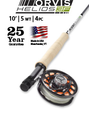The Helios 3F 5-Weight 10-Foot Fly Rod delivers versatility for a multitude of scenarios.