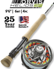 Complex casts and big fish are no sweat for the accurate Helios 3F 6-Weight 9½-Foot Fly Rod.