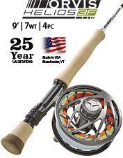 Haul in hefty fish or use big flies with the impressive Helios 3F 7-Weight 9-Foot Fly Rod.