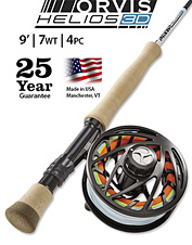 Powerful and accurate, the Helios™ 3D 7-Weight, 9-Foot Fly Rod easily handles big, heavy fish.