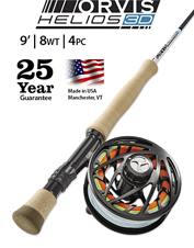 Choose the Helios 3D 8-Weight, 9-Foot Fly Rod for precision when casting with larger flies.