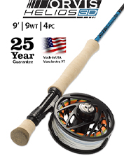 Land more fish when you rely on the incredibly accurate Helios 3D 9-Weight, 9-Foot Fly Rod.