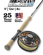 Anglers choose the Helios 3D 12-Weight, 9-Foot Fly Rod for power and accuracy in every cast.