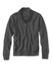 The favorite Merino Wool Quarter-Zip pullover gets an updated look with Donegal tweed yarn.