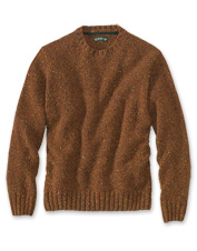 Tweed Donegal yarn weaves an authentically Irish spirit into this Newbridge crewneck sweater.