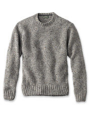Tweed Donegal yarn weaves an authentically Irish spirit into this Newbrigde crewneck sweater.
