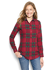 There's nothing quite so festive as our plaid Fuji silk camp shirt for the holidays.