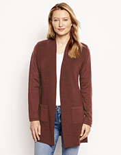 We updated our popular Signature Merino Wool Cardigan with a new neckline and prettier drape.