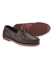 Gokey® pairs comfort with dressed-up style in these handsome men's bison leather moccasins.