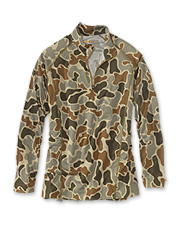 Harvest more game wearing this quick-dry hunting quarter-zip pullover in Orvis' original camo.
