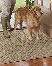Prevent dirt from reaching your clean floors with this Water Trapper floor mat. Made in USA.