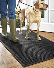 Use these utility floor mats to keep your floors clear of dirt, salt, and snow. Made in USA.