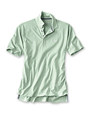 Pigment dyeing gives our supremely soft Angler's Polo shirt its lived-in appeal.