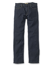 Pliant stretch pairs with a classic silhouette in these men's 5-pocket denim jeans.