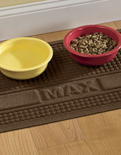Let us personalize the Recycled Water Trapper Grid Pet Placemat for free.