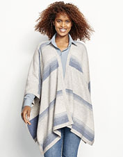 Add a little extra luxury to casual or dressy styles wearing our Blanket-Stripe Cashmere Wrap.