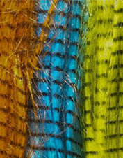 This durable synthetic grizzly hair lends itself to a multitude of fly-tying applications.