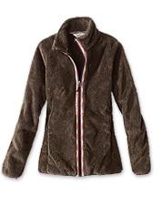 Enjoy windproof, cold-weather comfort in a flattering shape wearing our Big Sky Fleece Jacket.