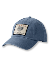 A vintage salmon fly graphic gives this cotton twill ball cap retro appeal.
