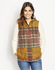 Our Field Fresh Wool Vest is a core-warming union of plaid wool and rugged waxed cotton.