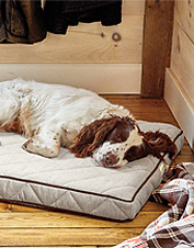 This soft, microfiber cover is made to perfectly fit the Orvis AirFoam Platform Dog Bed.