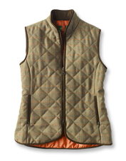 Classic sporting tradition shows in this distinctive Ladies' Tweed Quilted Vest by Laksen.