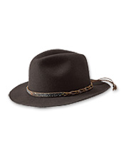 1fcb8df9 This stylish and hardworking wool felt rancher hat will see you through  both rain and shine