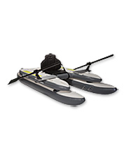 The Gigbob 2.0 personal fishing watercraft promises superior stability in a frameless boat.