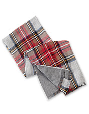 Wrap yourself in this generously-sized, stylish and versatile Reversible Plaid Blanket Scarf.