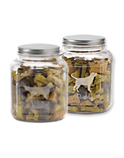 He'll know he's the good boy when you pull a snack from this Personalized Dog Breed Treat Jar.