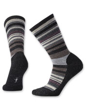 These bold striped crew socks from Smartwool® protect your feet with their Merino wool blend.