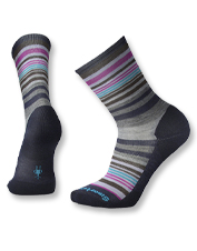 Keep your feet in top shape wearing durable, supportive Jovian Stripe Crew Socks by Smartwool.