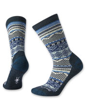 Enjoy a festive look that keeps toes warm in these Dazzling Wonderland Crew Socks by SmartWool.