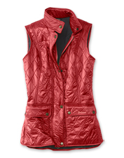 The Barbour® Wray fleece-lined quilted gilet is a sensible layer for the shoulder seasons.