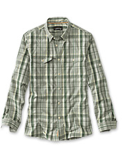 Wicking fabric and plaid come together in this version of our Western-look Clearwater shirt.