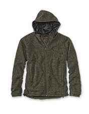 Take on any foul-weather adventure wearing this knitted water-resistant, windproof fleece jacket.