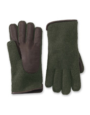 Exquisitely soft Lambswool/Deerskin Knit Gloves are stylish, without sacrificing grip.